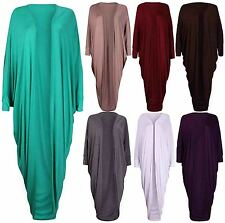 Womens New Batwing Sleeve Ladies Stretch Long Open Shrug Cardigan Maxi Dress Top