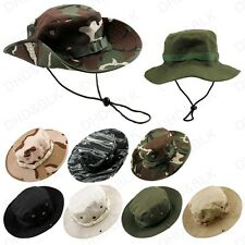 Bucket Hat Boonie Hunting Fishing Outdoor Cap Washed Safari Cotton Summer Men