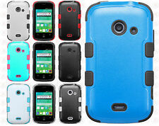 Cricket ZTE Prelude 2 IMPACT TUFF HYBRID Case Skin Phone Cover +Screen Protector