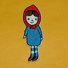 Little Girl Match Iron on Sew Patch Applique Sew Badge Embroidered Cute Biker