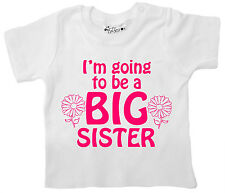 Dirty Fingers Baby T-Shirt I'm Going to be a Big Sister Girl's Top Tee Clothes