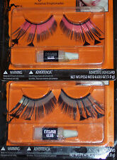 Extra-long false eyelashes w/feather accents,theater,Party,masquerade,Mardi Gras