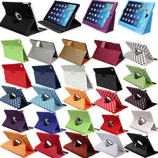 360 Rotating/2 Fold/Dot/Bling Wake/Sleep Leather Stand Case Cover For iPad Air 2