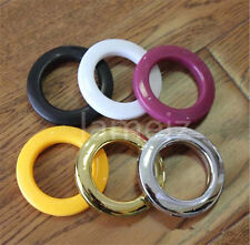 45mm 6 Colors Plastic Curtain Rod Rings Poles Voile Heading Tape Eyelet Quality