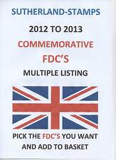 FDCs - GB 2012 TO 2013 First Day Covers FDC Multiple listing  PICK COVERS U WANT