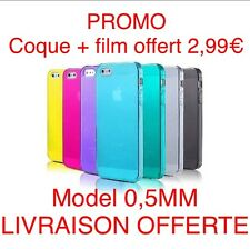 COQUE ETUI HOUSSE IPHONE 5 5S 5C 4 4S +FILM DE PROTECTION ECRAN+CHIFFON NETTE
