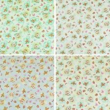 Teapots & Teacups In The Summer Time 100% Cotton Poplin Fabric Craft Material
