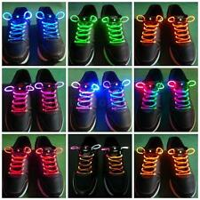 LED Light Up Shoe Shoelaces Flash Glow Stick Shoestring Street School