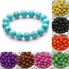 New Turquoise Gemstone Round Loose Spacer Bead Jewelry Finding 4mm 6mm 8mm 10mm