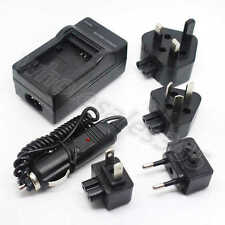 For Sony NP-BG1 NP-FG1 Battery Home Travel Wall+Car Camera Charger Adapter