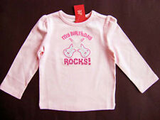 GYMBOREE My Birthday Rocks Girls Cotton Pink Guitar Tee Top U-Pic 4 5  NEW