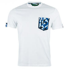 Mens Original Penguin The Trigger Pocket And Tab T-Shirt In White T-Shirt
