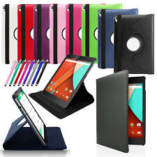 NEW 360 Rotating Leather Case Skin Cover Folio Stand For Google Nexus 9 Tablet