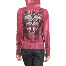 Sinful AFFLICTION Womens Hoodie Jacket PRETTY VACANT Tattoo Biker BKE XS-M $74
