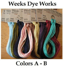 Weeks Dye Works - Colors A - B - YOU CHOOSE **Buy 10+ for FREE SHIPPING**