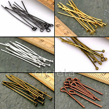 Eye Pin Flat Head Pin Ball Pin Finding 16mm 20mm 30mm 40mm 50mm 60mm Silver Gold