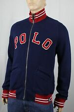Polo Ralph Lauren Navy Blue Full Zip Sweatshirt Track Jacket NWT