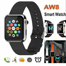 1.5'' Smart Watch Phone Mate AW08 Bluetooth For iPhone IOS Android Samsung HTC B