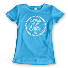 Quit Playing With Your Dinghy  Tommy boy Aqua Women's Jr Fit T-Shirt