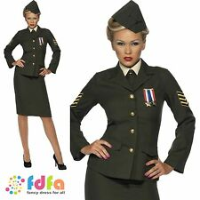 WW2 WARTIME FEMALE OFFICER SUIT ARMY UNIFORM - 8-26 - ladies fancy dress costume