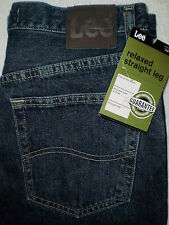 Lee Relaxed Fit Straight Leg Mens Denim Jeans Size 32 X 32, 34 X 32, 38 X 30 New