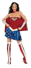Womens Adult Sexy WONDER WOMAN Dress Costume Outfit
