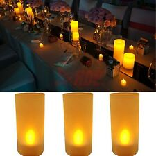 Flickering LED Flameless Fake Candle Wedding Party Home Decor Battery Operated