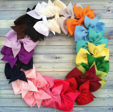 Lot 5-100PCS Girls Baby Hair Bows Boutique HairPin Stick Flower Ribbon Headwear