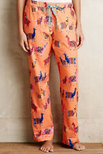 NEW Anthropologie ELOISE Patchwork Llama Loungers Pajama Pants Sz XS