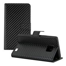 kwmobile CARBON WALLET SYNTHETIC LEATHER CASE FOR SAMSUNG GALAXY S2 I9100 / S2