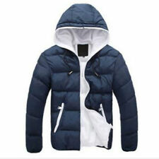 Men Winter Casual Hooded Thick Padded Jacket Zipper Slim Outwear Coat