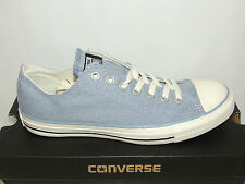 NEW CONVERSE ALL STAR LO PALE BLUE CHAMBRAY TRAINERS.