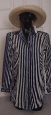 NEW Blue Stripe $98 Tommy Bahama DeSiGnEr Swimsuit Cover Up Top  XS   NWT