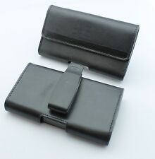 "Genuine Leather OEM AGF Horizontal Case Pouch Cover Holster Clip w 2"" Belt Loop"
