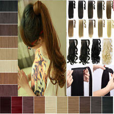 Top Sale Wrap Around Ponytail Pony Tail Hair Extensions Mix Color Cosplay FF