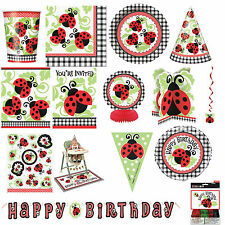 Ladybird Red Happy 1st Birthday Party Tableware Supplies Decorations all items