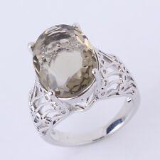 Eternity ring 18K white gold filled Vintage peridot vintage style rings Sz6to10