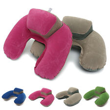 Inflatable Neck Pillow Soft Travel Air Cushion Sleep Support for Flights Car