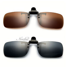 New Small Polarized Small Clip-on Flip-up 54MM Lens Glasses Attachment with Case