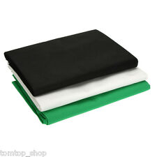 5 x 10FT Black White Green Screen Muslin Backdrop Photo Photography Background