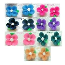 Small Polymer Clay Flower Stud Earrings