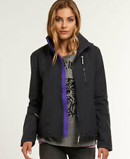 New Womens Superdry Polar Windhiker Jacket Dark Charcoal Grey