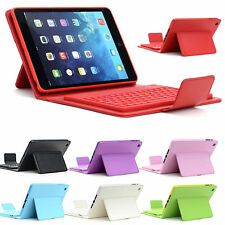 For iPad Mini 3 2 1st Wireless Bluetooth Keyboard Stand Folio Leather Hard Case