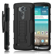 Shockproof Rugged Armor Hybrid Hard Case Stand Protective Cover Holster For LG