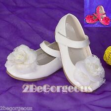 Rose Mary Janes Shoes Size 5.5-12 EU 22.5-30 Wedding Bridesmaid Party GS012