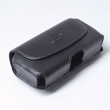 Premium Leather Phone Holder Clip with Double Belt Loops & Clip Cover Pouch Case