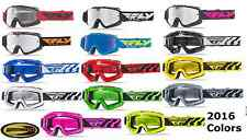 Fly Racing Zone Focus Goggles Motocross Atv Mx Blue Red Black Pink Green Yellow