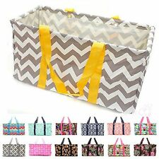 "21"" Large Utility Tote Bag Organizing Pool Beach Diaper Picnic Basket Laundry"