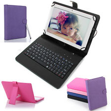 "8 inch Tablet Cover Stand Folio Keyboard Case PU Leather for Android 8""Tablet PC"