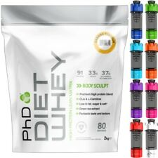 PhD Nutrition Diet Whey Protein 2kg - All Flavours + Free Cyclone Shaker